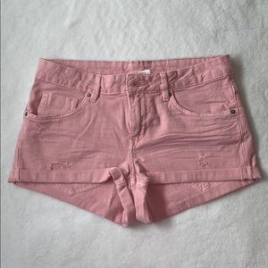 H&M pink jean shorts